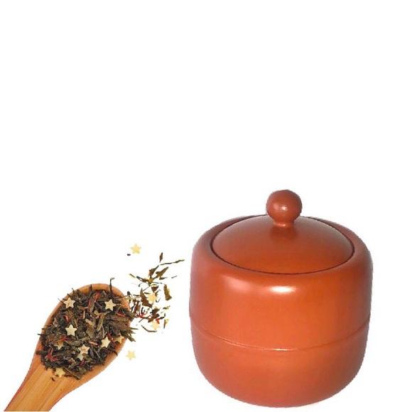 Vintage Other - Vintage Terracotta Tea Canister